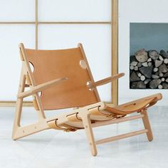 Jagtstolen, Børge Mogensen Eg/ natur - ralph Danish Furniture, Cool Furniture, Deck Chairs, Outdoor Chairs, Vintage Furniture Design, Ottoman Sofa, Armchair, Vintage Chairs, Furniture Inspiration
