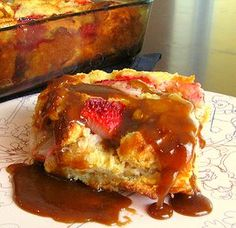 Cajun Delights: Strawberry Bread Pudding.......