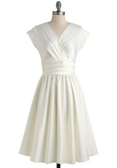 Love You Ivory Day Dress. When you fall in love with the right formal dress, youll simply know that its meant to be. #white #wedding #bride #modcloth