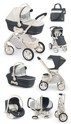 Cam Kinderwagen Dinamico UP dark blue-creme by CAMSPA Italy für Baby und Kind