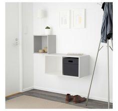 EKET Комбинация настенных шкафов, светло-серый, белый, 105x35x70 см