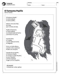 "El fantasma Pepillo"" data-recalc-dims= Spanish Lesson Plans, Spanish Lessons, Spanish Classroom, Teaching Spanish, Spanish Immersion, Home Schooling, Spanish Language, How To Plan, Education"