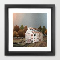 Forget about your house of cards Framed Art Print by Emma Fitzgerald - $37.00