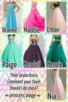 Which prom dress is your favourite? I love Chloe's classic elegance, Kendall's royal purple gown and Nia's gorgeous baby pink taffeta! Comment for your favourites!
