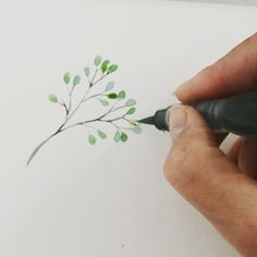 """use my water brush for hand lettering and large areas of colour, but I thought I'd try…"""""""