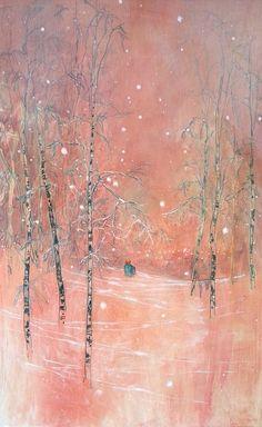 DANIEL ABLITT Warm Winter Light Framed oil on board 59cm x 82cm