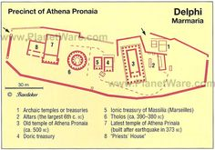 Delphi - Precinct of Athena Pronaia - Site map