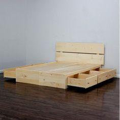 Gothic Furniture Captains Storage Platform Bed Size: Queen, Finish: Antique Cherry