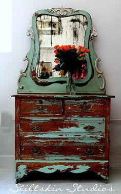 rustic shabby farmhouse dresser from Stiltskin Studios