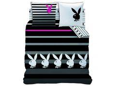 Playboy Dekbedovertrek tweepersoons, Stripes 200x200cm