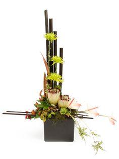Modern asian inspired floral arrangement
