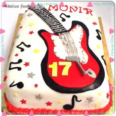 Music birthday cake from alb el loz food