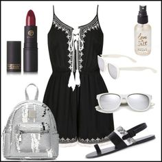 Fashion Outfits, Black And White, Summer, Image, Black White, Black N White, Summer Recipes, Fashion Sets, Summer Time