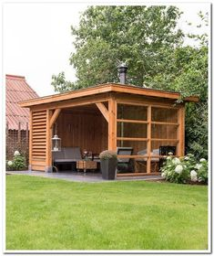 Backyard patio designs - 39 Incredible Backyard Storage Shed Design and Decor Ideas Backyard Gazebo, Backyard Patio Designs, Pergola Patio, Backyard Landscaping, Pergola Kits, Patio Ideas, Landscaping Ideas, Backyard Storage Sheds, Backyard Sheds