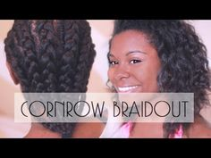 How To Cornrow Braid Natural Hair| Defined Curls! + GIVEAWAY - YouTube