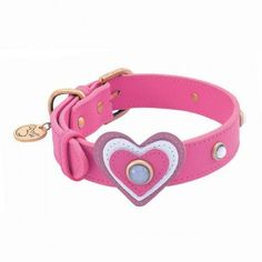 Heart White Cat Eye Dog Collar