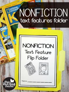 Use this free printable to help your learners make a nonfiction text features folder. Learners write the purpose and include examples under each flap. Spanish Language Learning, English Language, Language Arts, Japanese Language, Teaching Spanish, 5th Grade Reading, Kindergarten Reading, Free Teaching Resources, Teaching Strategies
