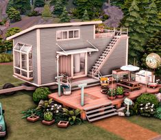 Sims 4 House Plans, Sims 4 House Building, The Sims 4 Pc, Sims Cc, Weekend Cottages, Sims 4 House Design, Sims 4 Cc Packs, Suburban House, Sims 4 Build