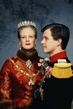 DANISH ROYAL FAMILY Queen Margarethe II and Crown prince Frederik