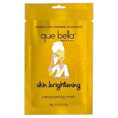 …for a bright and brilliant complexion… Refresh and revitalize your skin with the Que Bella Skin Brightening Papaya Peel-off Mask. Enriched with natural Papaya Extract the mask helps exfoliate whilst the Hops actives help even out skin tone, revealing smoother, more luminous skin and a glowing complexion. <br>The Papaya extract used in this mask is rich in Papain, a powerful digestive enzyme that can help to gently exfoliate the skin. 'Wonderlight&rs...