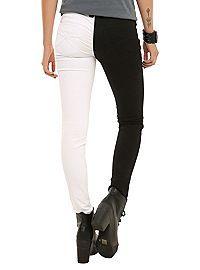 HOTTOPIC.COM - Royal Bones By Tripp White And Black Split Leg Skinny Jeans