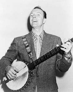 Pete Seeger was the father of American folk music. Wiry and spry, he still played his long-necked banjo with the same exuberance he'd shown for decades until the very end. (Image Credit: Courtesy of the Library of Congress). Celebrities Who Died, Pete Seeger, Gender Politics, Erie Canal, Celebrity Deaths, Folk Music, Music Music, Music Stuff, Fun Stuff