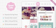 Welcome to our Cake Shop Theme  Sweet Cake is a one page Responsive HTML5 CSS3 Theme perfect for your business. The graphic is very sweet and creative, is ideal for bakeries, ice cream shops, res...