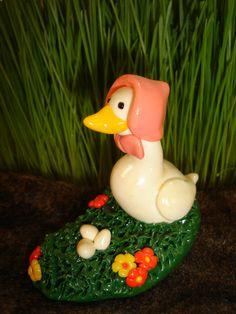 polymer clay duck