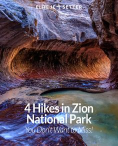 Heading to Zion National Park in Utah? There are 4 hikes you absolutely cannot afford to miss while you're there! Things to do in Utah, Things to do in Zion National Park, ZNP, Things to do in USA, great places to hike in the US. Road trip through the USA Florida Keys, Nationalparks Usa, Zion Canyon, Bryce Canyon, Grand Canyon, Las Vegas, Utah Vacation, Vacation Ideas, Vacation Spots