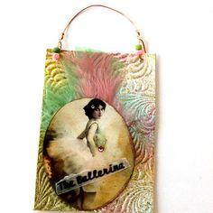 hanging art card French ballerina