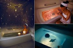 "takethedamncash: "" Homestar Spa is a planetarium for your bath that not only paints the room with stars, but includes Rose Bath and Deep Ocean graphic domes for changing to a different mood. The waterproof planetarium floats in water and contains a. Planetarium Projector, Rose Bath, Spa Night, Decoration Originale, Floating In Water, Bath Light, Bath Toys, My New Room, Cool Gadgets"
