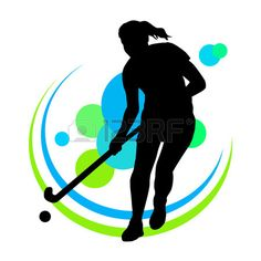 Illustration of Illustration - field hockey player vector art, clipart and stock vectors. Human Figure Sketches, Figure Sketching, Sports Art, Kids Sports, Hockey Drawing, Field Hockey Girls, Hockey Cakes, Kids Silhouette, Sports Drawings