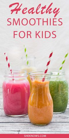 Smoothies are the way to go for a quick kid-friendly breakfast