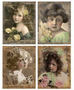 Sheet victoriaanse meisjes 2   -Victoriaans   Nostalgie & Brocante