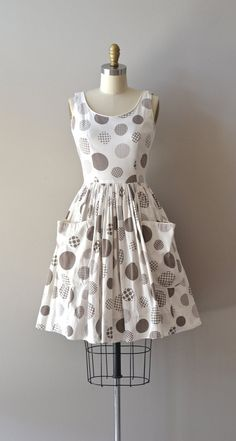 vintage 1950s dress / cotton 50s dress / Graph & Dot by DearGolden, $138.00
