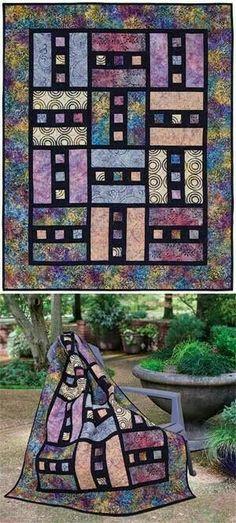 Batik mosaic quilt