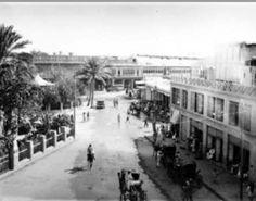 جانب من بغداد قديما ساحة الميدان ويظهر مقهى البلدية في الجانب الأيمن