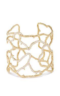 Coral diamonds cuff by NATALIE DISSEL for Preorder on Moda Operandi