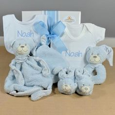 Baby Gift Hampers, Bear Ears, Baby Slippers, Personalized Baby Gifts, Baby Boy Gifts, Beautiful Gifts, Baby Boy Newborn, Baby Bibs, Baby Bodysuit