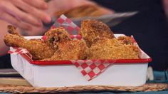 "Dr. Travis' Oven-Fried Chicken from ""The Doctor's Diet Cookbook"" by Travis Stork, M.D. #recipe #oats #baked #wholewheat #buttermilk"
