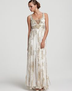 Sue Wong Metallic Silk Jacquard Beaded Gown - Bride - Ceremony - The Wedding Shop - LOOKBOOKS - Fashion Index - Bloomingdale's