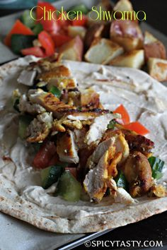 Maybe this is the one he has been looking for.......How to make Chicken Shawarma? Spicy Tasty