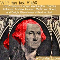 US presidents who had red hair - WTF fun facts
