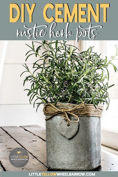 Cute little concrete pots for all your herbs or small plants. A very easy DIY tutorial that doesn't break the bank. Raid your recycling bin because the molds for these are free. #concrete #planters #easycrafts #DIY # herbpots