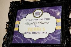A Royal Celebration 30th Birthday Party | CatchMyParty.com