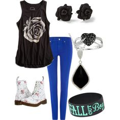 """Polyvore outfit made to go with """"Alone Together"""" by Fall Out Boy"""