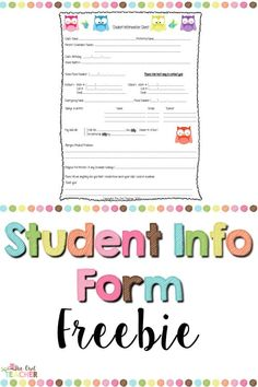 Even in a digital world, it's still nice to have your student information at your finger tips. Collect your student's information using this free form!