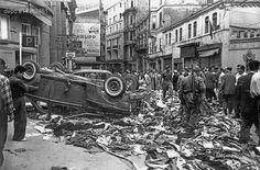 Tarih 7 Eylül 1955... 6-7 Eylül Olaylarının ardından Beyoğlu'nun görünümü..