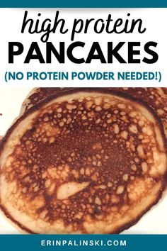 These high protein pancakes are easy to make, fluffy and delicious. The secret ingredient? Cottage cheese! No protein powder is needed; these cottage cheese pancakes are naturally a good source.