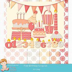 Free Digital Scrapbook Kits: free Birthday scrap kit